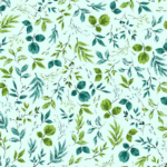 loneta de flores estampadas