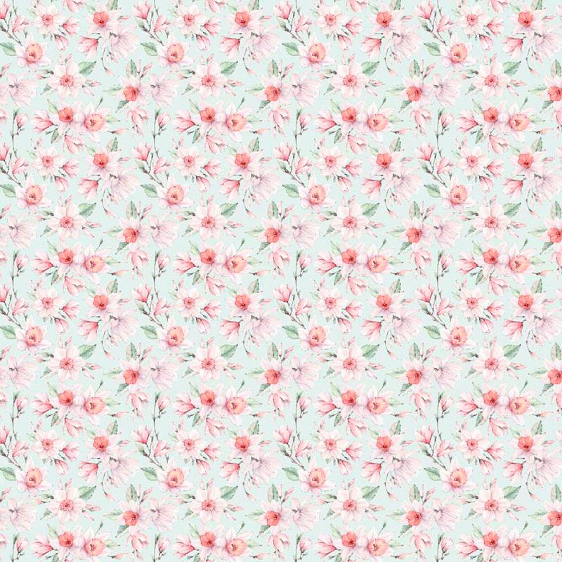 lonetas en color pastel de flores