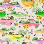 Drome loneta con paisajes provenzales para decoración lavandas estampadas