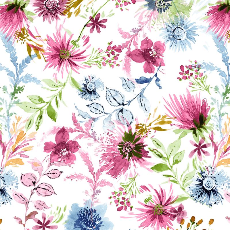 loneta de flores modernas