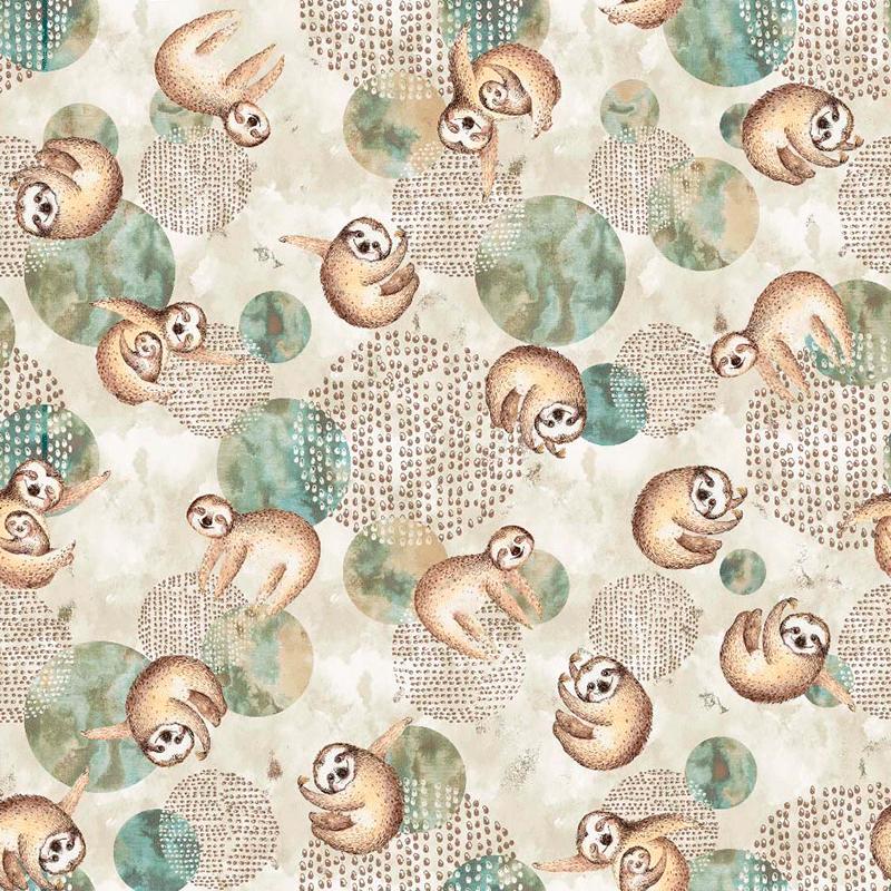 tela loneta estampada de animales para decoración y accesorios