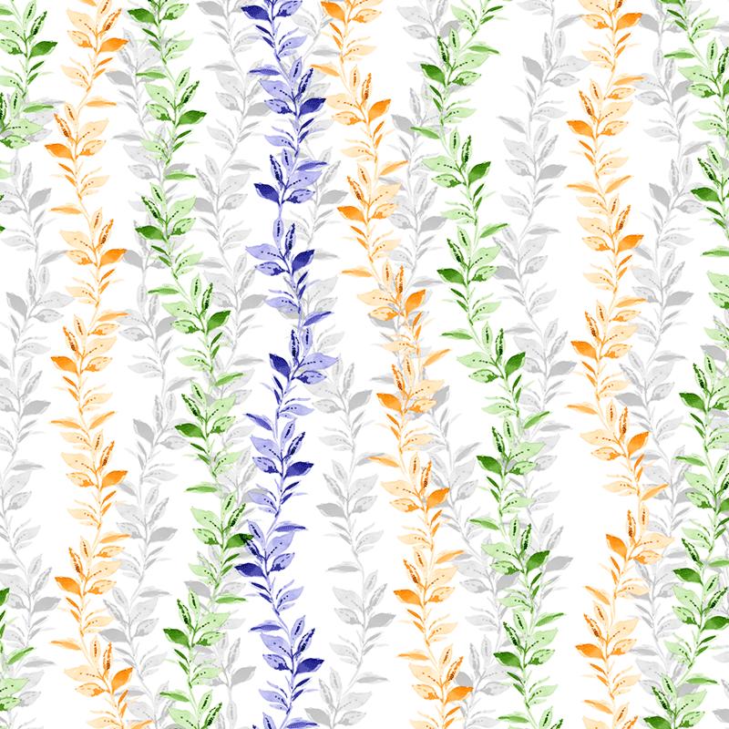 Loneta estampada de flores modernas