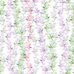 loneta estampada de flores ramificadas
