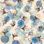 tela estampada de monos animales textil hogar