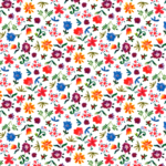 loneta de flores silvestres estampadas en colores fuertes