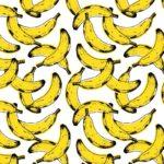 Telas de platanos bananas para decoración de interiores