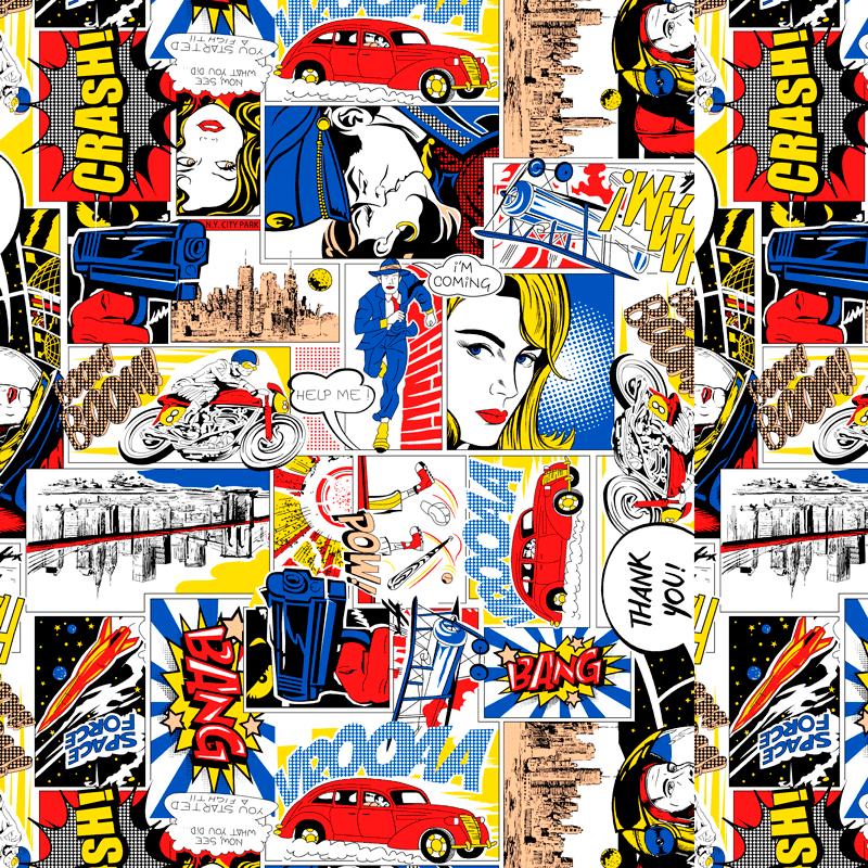 lonetas para decoración dibujos de comics