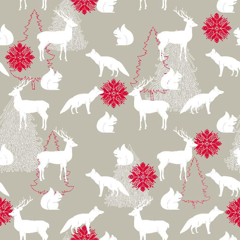 telas de navidad para decoración