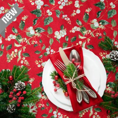 loneta de navidad telas para decoración navideña