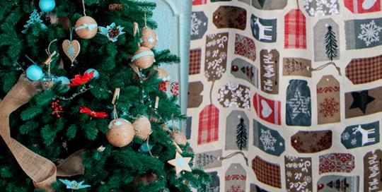 loneta navidad para decoración