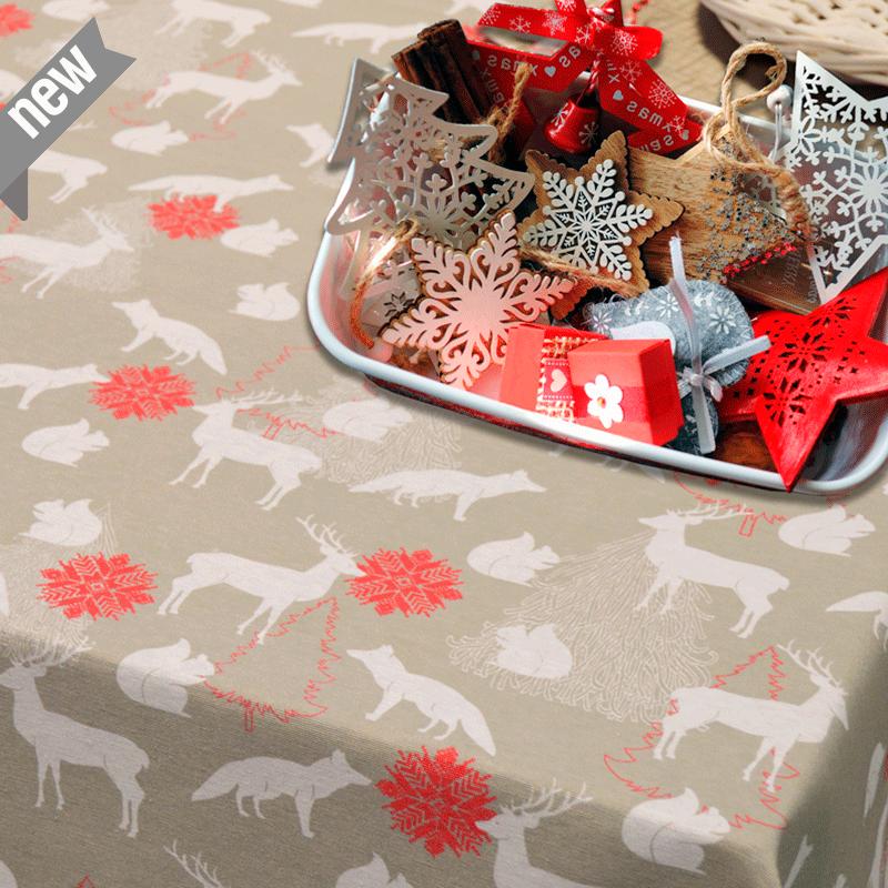 Tela Navidad para cojines manteles cortinas navideñas