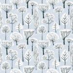 telas con diseños de invierno