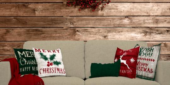 cojines de navidad telas para decoración navidad