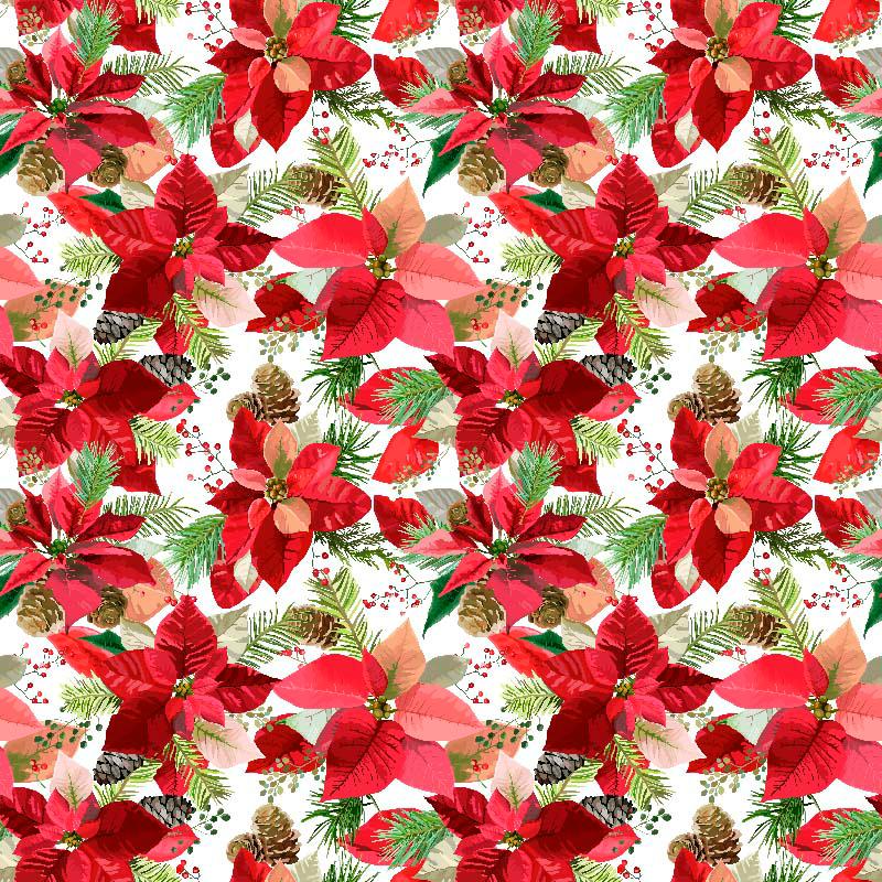 loneta de flores de navidad