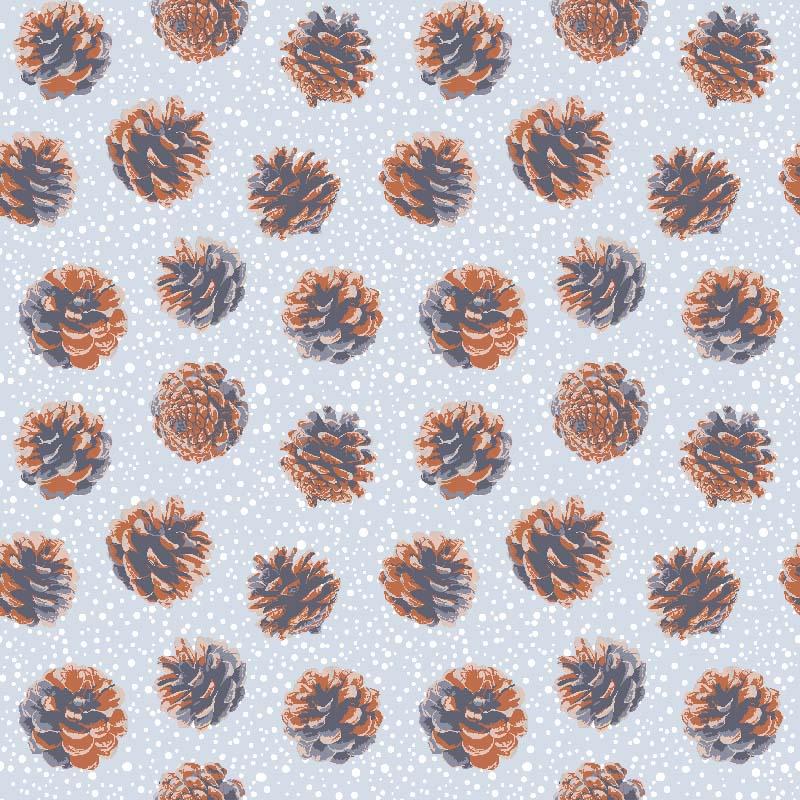 lonetas piñas de invierno para decoración