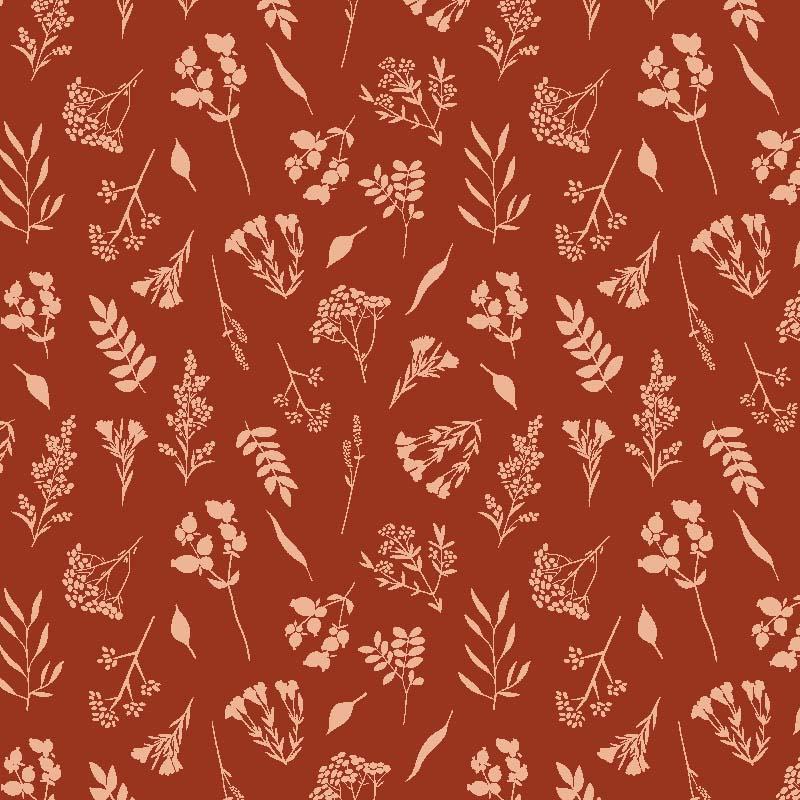 loneta decoración hogar color rojo