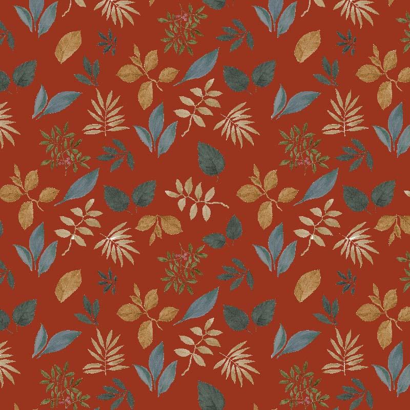 loneta de flores hojas silvestres otoñales invierno