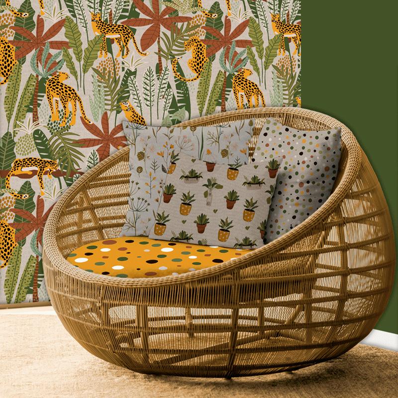 telas color tierra decoración hogar