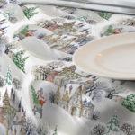 tela resinada mantel navidad