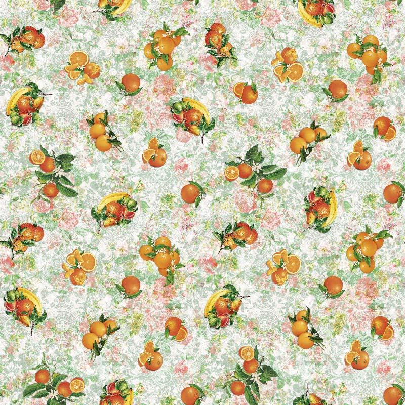 tela de frutas para decoración hogar por metros