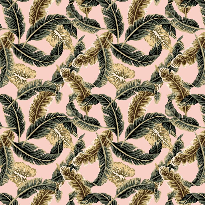 loneta estampada de plumas