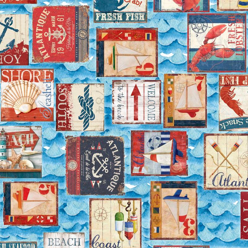 telas marineras para decoración loneta