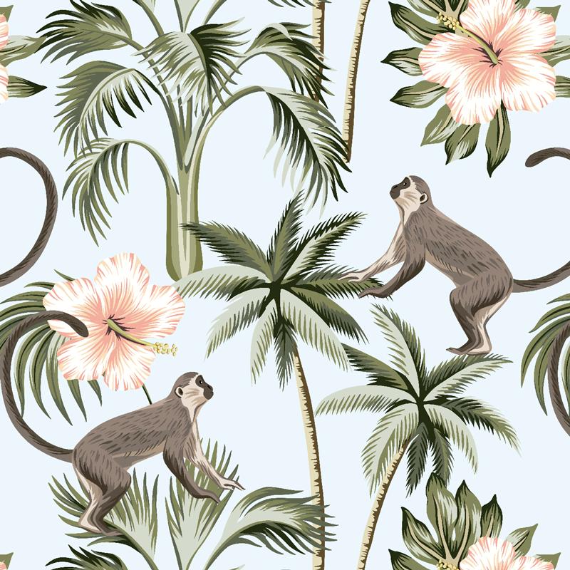 telas de monos micos estampados