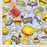 loneta estampada de historietas, dibujos animados
