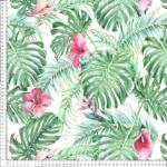 loneta flores tropicales