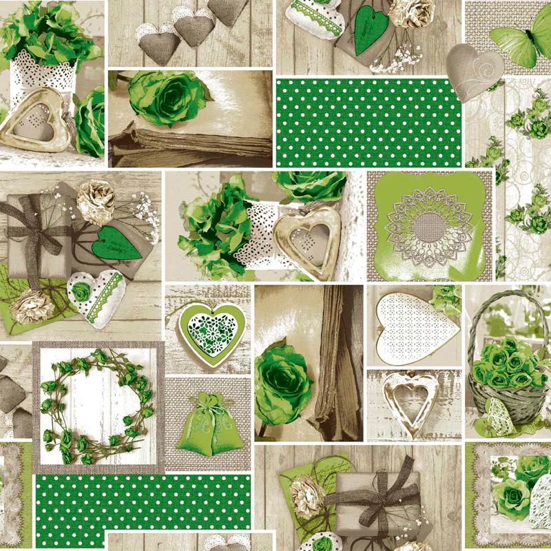 loneta vintage verde