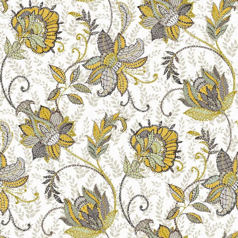 loneta de flor estampada para decoración