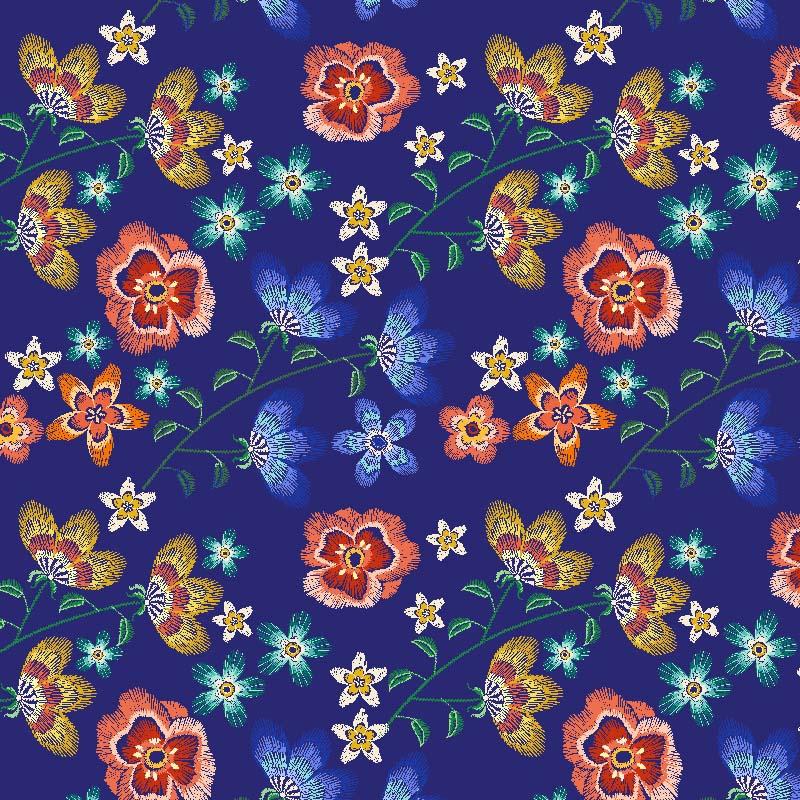 loneta flor folk