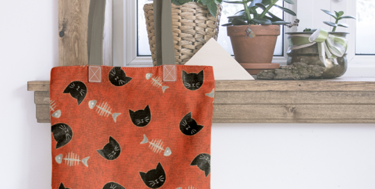 loneta estampada de animales domésticos: gatos