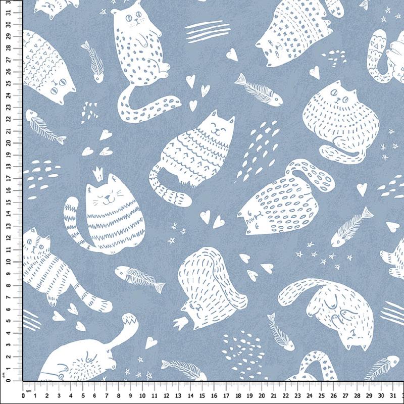 loneta estampada para bolsos mochilas fundas textil decoración hogar gatos