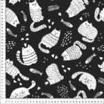 loneta gatos negro