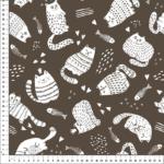 loneta gatos fondo marrón
