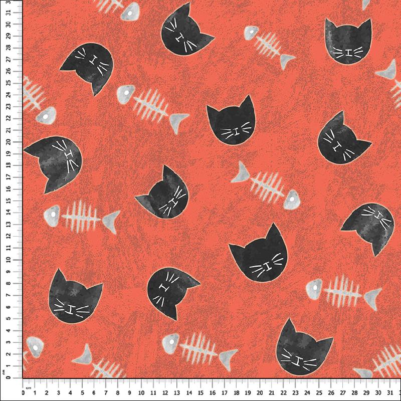 loneta de gatos estampados textil home