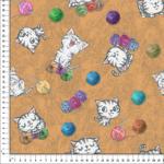 loneta de gatos con lana divertidos venta por metros