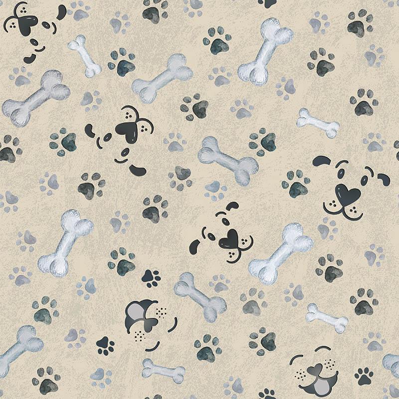 loneta huesos huellas patas perros
