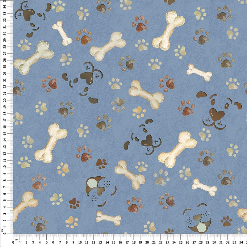 loneta perros estampados