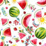 loneta de sandia melon frutas