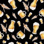 loneta vasos de cerveza fondo negro