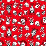 loneta piratas rojo