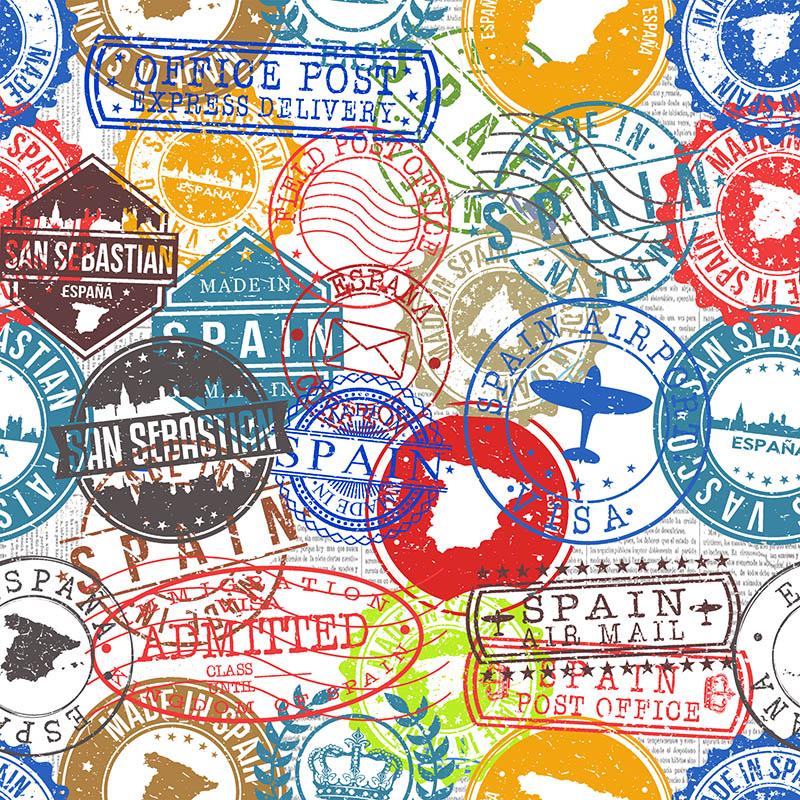 loneta sellos estampados