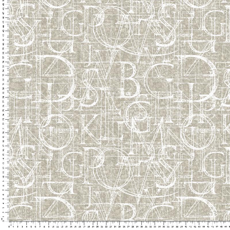 loneta letras en algodón