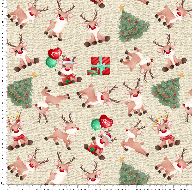 loneta renos navidad