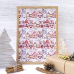 Loneta navidad telas navideñas para la decoración, accesorios